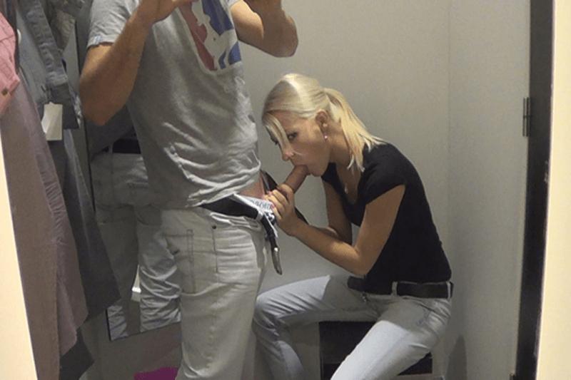 Blondes Amateurgirl bläst den harten Schwanz ihres Freundes auf gratis Amateur Bilder