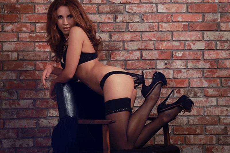 Geiles Foto einer erotischen Frau bei einem Sexcam Strip