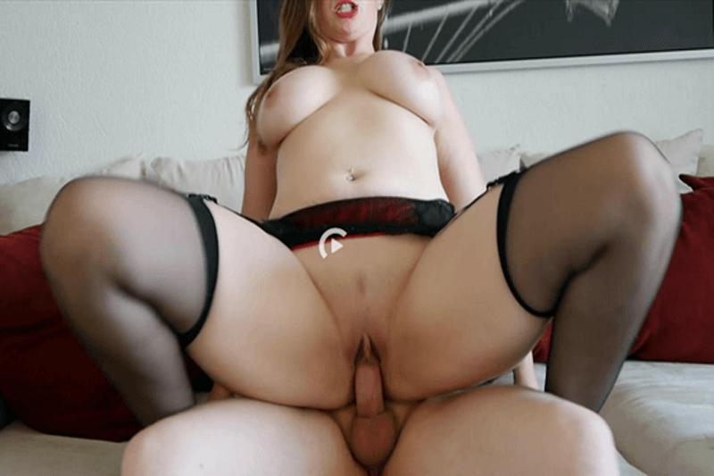 Reifes Luder mit fette Titten reitet einen fetten Schwanz bis zum Orgasmus